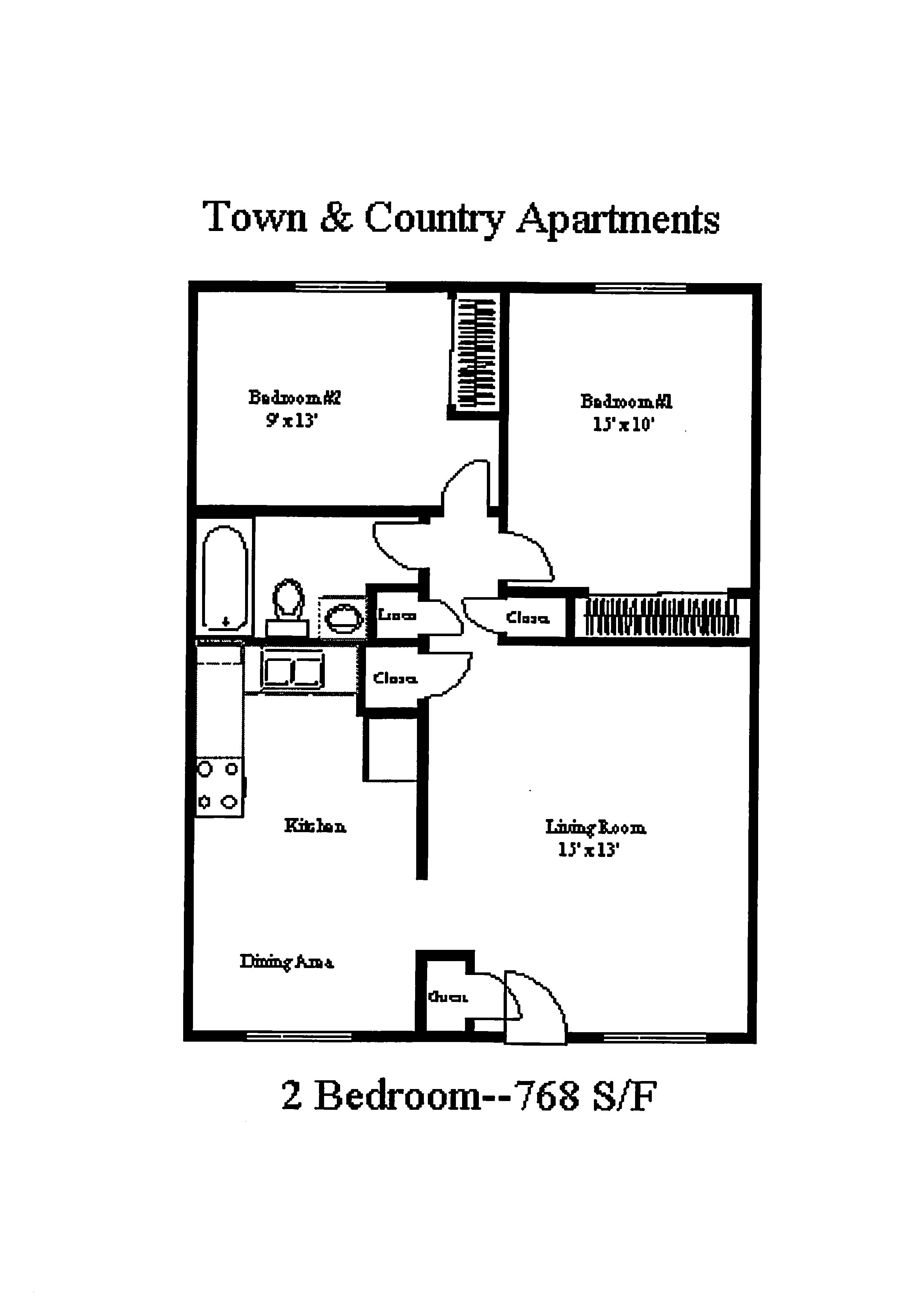 Town & Country Apartments - 2 BR
